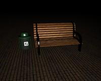 free c4d mode park bench