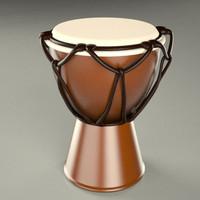 3d 3ds bongo african drum