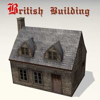 3d model old british building