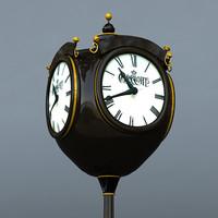 3d model city clock