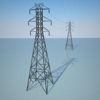 3d electric line model