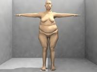 fat man male 3d model