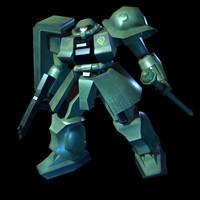3d model robot gundam