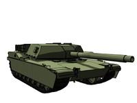 m1 abram tank 3d max