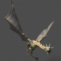 3d fantasy dragon model