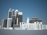 skyscraper city buildings c4d