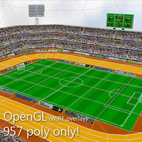 Low Poly Soccer Stadium