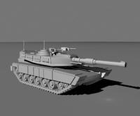 3d tank m1a abrams