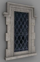 Tudor Window 3d model