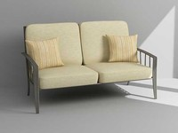 3ds max outdoor loveseat