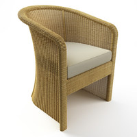 3d model wicker chair table