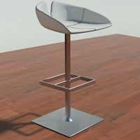 3ds fjord stool square white