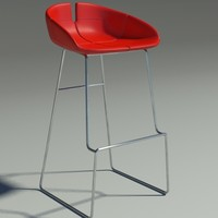 Fjord bar Stool high red