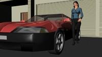 car sports 3d obj
