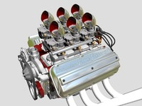 6x2 stromberg hemi v8 engine 3d 3ds