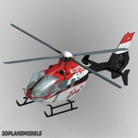 eurocopter ec-135 era helicopters 3d obj