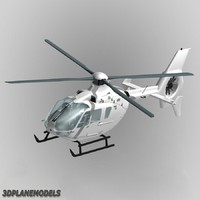 3d model eurocopter ec-135 generic white