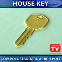 3d house key model