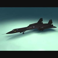 black bird spy plane 3d model