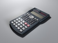 casio fx-85ms calculator 3d model