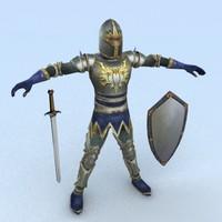 3d medieval warrior 3 model