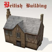 old british building 3d lwo