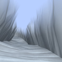 snowy valley 3d model