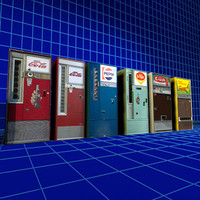 cola machines retro 01 3d model