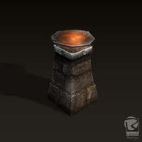 3d model dungeon torch d torch-v1