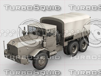 3d army truck model