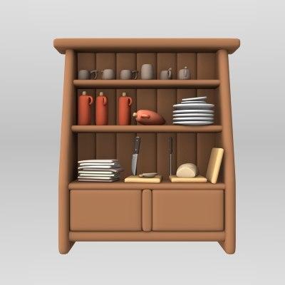 Lwo cartoon cabinet for Cartoon kitchen cabinets