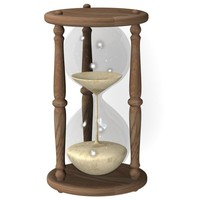 hourglass hour glass 3d 3ds