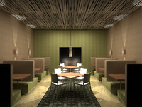 3d model seating cafe