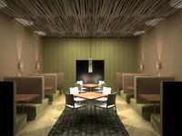3d model seating cafe