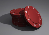 high-poly poker chip obj