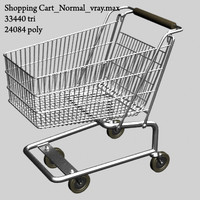 3d model v-ray shopping cart
