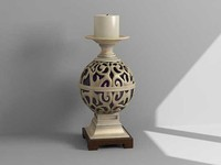 3d decorative candle model