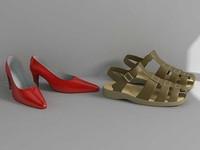 3d shoes sandals