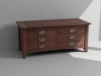 dresser cabinet 3d model