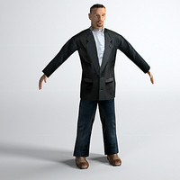 Low Polygon Man in Suit