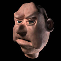 mean old guy 3d model