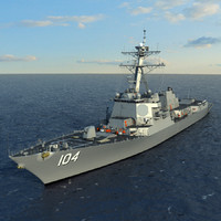 US Navy  PCU STERETT (DDG-104) Arleigh Burke Class Destroyer Flight IIA Max