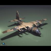 3d c-130 hercules model