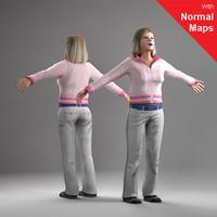 axyz human 3d model