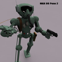 retro battle robot war 3d model