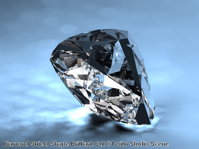Diamond Shield Shape Brilliant Cut 01 with Studio Scene.jpg
