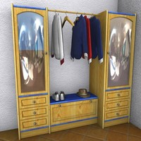 cinema4d garderobe country style