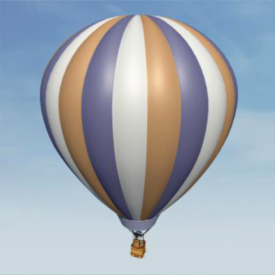 3d model hot air balloon - Hot Air Balloon... by AhearnART