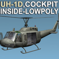 3d helicopter cockpit model