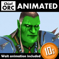 3d model orc chieftain